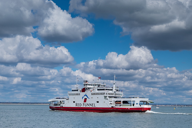 Red Funnel ferry leaving Cowes, Isle of Wight
