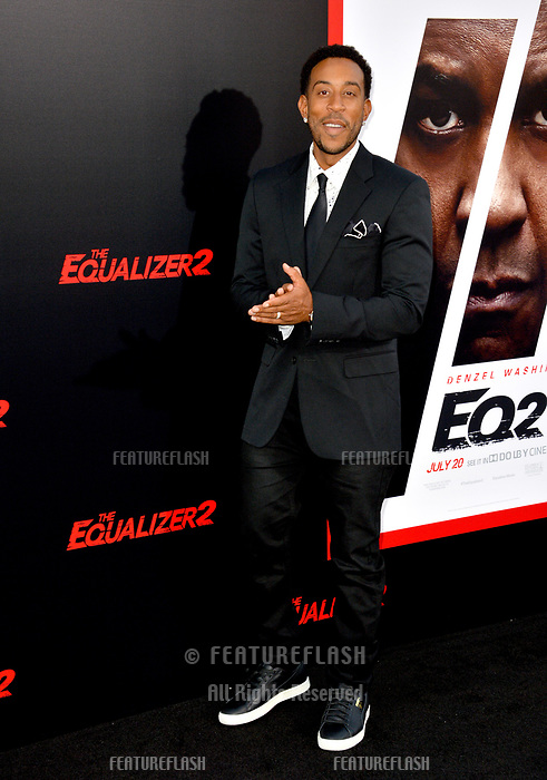 Chris Bridges, aka Ludacris at the premiere for &quot;The Equalizer 2&quot; at the TCL Chinese Theatre, Los Angeles, USA 17 July 2018<br /> Picture: Paul Smith/Featureflash/SilverHub 0208 004 5359 sales@silverhubmedia.com