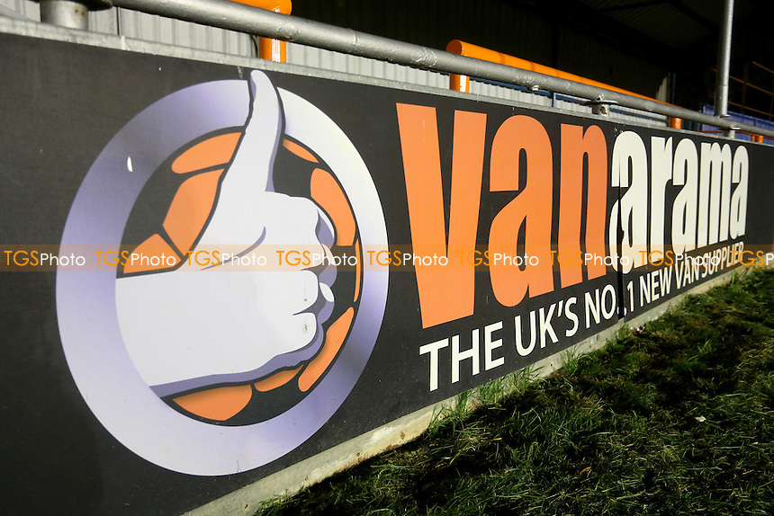The Vanarama sign ahead of Braintree Town vs Lincoln City, Vanarama National League Football at the IronmongeryDirect Stadium on 7th March 2017