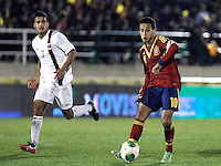 Spain's Thiago and Norway's Singh during an International sub21 match. March 21, 2013.(ALTERPHOTOS/Alconada) /NortePhoto