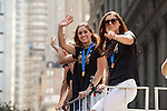 10 July 2015: Ali Krieger (right) and Alex Morgan (left). The United States Women's National Team was honored with a parade down New York City's Canyon of Heroes for winning the FIFA 2015 Women's World Cup in Canada.
