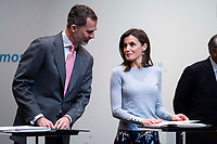 King Felipe VI of Spain and Queen Letizia of Spain delivers 'La Caixa' Scholarships at Caixa Forum in Madrid, Spain. April 10, 2018. (ALTERPHOTOS/Borja B.Hojas) /NortePhoto.com NORTEPHOTOMEXICO