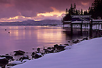 Winter clouds over Lake Tahoe, California