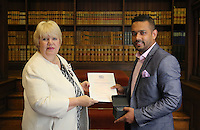 2016 08 20 Citizenship ceremony, Carmarthen, Register Office, Wales, UK