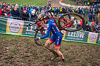 Picture by Alex Whitehead/SWpix.com - 03/02/2018 - Cycling - 2018 UCI Cyclo-Cross World Championships - Valkenburg, The Netherlands - Great Britain's Helen Wyman in action during the Elite Women's race.