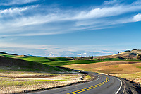Over the hill and around the bend, the beauty of the farming country of the Palouse of western Idaho and eastern Washington.