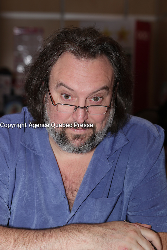 Bryan Perro<br />  at montreal book fair, November 2015,<br /> <br /> <br /> PHOTO : Pierre Roussel<br />  - Agence Quebec Presse