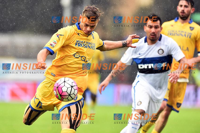 Samuele Longo Frosinone <br /> Frosinone 09-04-2016 Stadio Matusa Football Calcio Serie A 2015/2016 Frosinone - Inter Foto Andrea Staccioli / Insidefoto