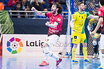 Rios R. Zaragoza Fernando Modrego celebrating a goal during Semi-Finals Futsal Spanish Cup 2018 at Wizink Center in Madrid , Spain. March 17, 2018. (ALTERPHOTOS/Borja B.Hojas)