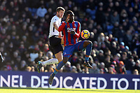 Eric Dier of Tottenham Hotspur and Christian Benteke of Crystal Palace during Crystal Palace vs Tottenham Hotspur, Premier League Football at Selhurst Park on 25th February 2018
