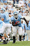 06 October 2007: North Carolina's Anthony Elzy. The University of North Carolina Tar Heels led the University of Miami Hurricanes 27-0 at halftime at Kenan Stadium in Chapel Hill, North Carolina in an Atlantic Coast Conference NCAA College Football Division I game.