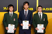 Badminton Boys finalists Kerwyn Lee, Samuel Ho and Dylan Soejdasa. ASB College Sport Young Sportsperson of the Year Awards held at Eden Park, Auckland, on November 24th 2011.