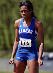 May 17, 2008 - Boulder, CO.   Kansas long jumper, Crystal Manning during the 2008 Big 12 Conference Track & Field Championships.  ...Larry Clouse/CSM