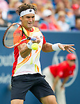 David Ferrer (ESP) during the final against Roger Federer (SUI). Federer edged Ferrer to win his 6th Western & Southern Open by 63 16 62 in Mason, OH on August 17, 2014.