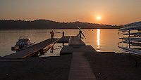 Varese. Lombardia. ITALY. General View.  Sun Set, Crewsreturning from afternoon Training on Lake/Lago Varies. [Varese Rowing Club]. [Canottieri Varese]<br /> <br /> Tuesday  03/01/2017<br /> <br /> [Mandatory Credit; Peter Spurrier/Intersport-images]<br /> <br /> <br /> LEICA CAMERA AG - LEICA Q (Typ 116) - 1/4000 - f2.8