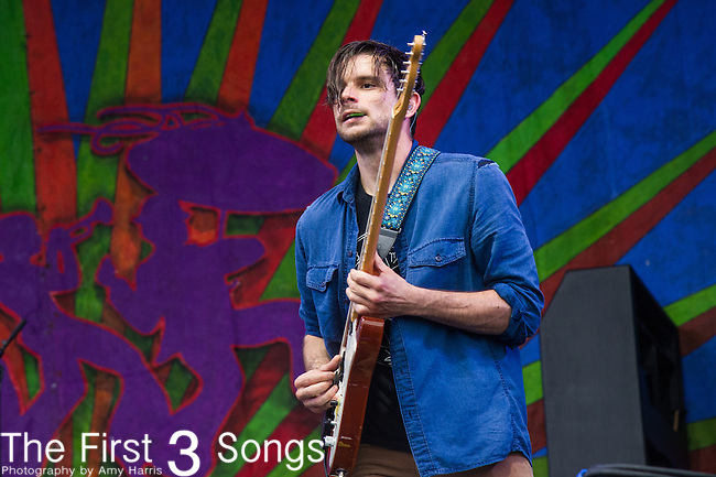 Josh LeBlanc of GIVERS performs during the 2015 New Orleans Jazz & Heritage Festival in New Orleans, Louisiana.