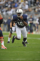 02 November 2013:  Penn State DE Deion Barnes (18) rushes the QB. The Penn State Nittany Lions defeated the Illinois Illini 24-17 in OT at Beaver Stadium in State College, PA.