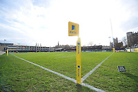 A general view of the Recreation Ground pitch prior to the match. Aviva Premiership match, between Bath Rugby and Northampton Saints on December 5, 2015 at the Recreation Ground in Bath, England. Photo by: Patrick Khachfe / Onside Images