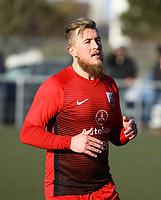 Andreas Adamek (SV Unter-Flockenbach) - 25.02.2018: SKV Büttelborn vs. SV Unter-Flockenbach, Gruppenliga Darmstadt