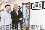 Eamon Browne (Killarney Librarian) and Jerry O'Grady (Chair, Hugh O'Flaherty Memorial Society) at the official opening on Friday at Killarney Library of the 2016 Monsignor Hugh O'Flaherty Memorial Society's Photographic & Memorabilia Exhibition, part of the annual Hugh O'Flaherty Memorial week.