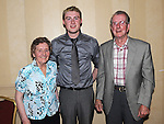Eóin Healy celebrating his 21st birthday in the Westcourt hotel with grandparents Benny and Niamh Healy. Photo: Colin Bell/pressphotos.ie