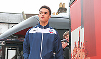 Bolton Wanderers' Antonee Robinson gets off the team coach outside Griffin Park<br /> <br /> Photographer Alex Dodd/CameraSport<br /> <br /> The EFL Sky Bet Championship - Brentford v Bolton Wanderers - Saturday 13th January 2018 - Griffin Park - Brentford<br /> <br /> World Copyright &copy; 2018 CameraSport. All rights reserved. 43 Linden Ave. Countesthorpe. Leicester. England. LE8 5PG - Tel: +44 (0) 116 277 4147 - admin@camerasport.com - www.camerasport.com