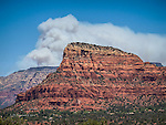 Slide Fire Smoke Plume above Chapel, Sedona, Arizona
