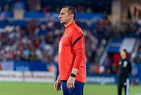 FRISCO, TX - MARCH 11: Vlatko Andonovski of the United States watches the team during a game between Japan and USWNT at Toyota Stadium on March 11, 2020 in Frisco, Texas.