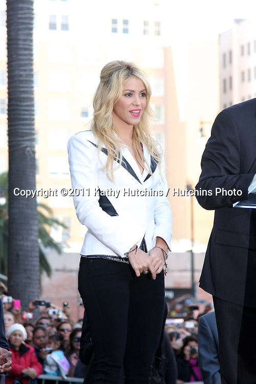 LOS ANGELES - NOV 8:  Shakira at the Hollywood Walk of Fame Ceremony bestowing a star on Shakira at W Hollywood on November 8, 2011 in Los Angeles, CA
