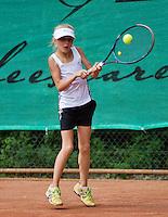 05-08-13, Netherlands, Dordrecht,  TV Desh, Tennis, NJK, National Junior Tennis Championships,  Joelle Steur (NED)<br /> <br /> <br /> Photo: Henk Koster