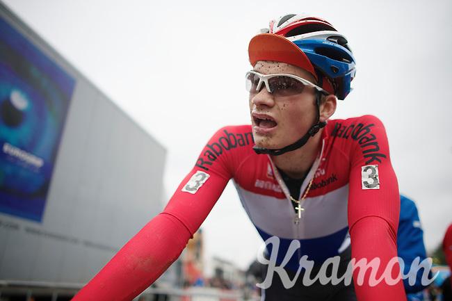Dutch National U23 Champion David Van Der Poel (NLD) post-race<br /> <br /> UCI Worldcup Heusden-Zolder Limburg 2013