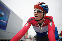 Dutch National U23 Champion David Van Der Poel (NLD) post-race<br /> <br /> UCI Worldcup Heusden-Zolder Limburg 2013