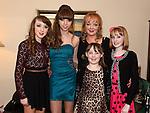 Tamara Martin celebrating her 18th birthday with mam Kim, sisters Natasha, Daniella and Nicole. Photo:Colin Bell/pressphotos.ie