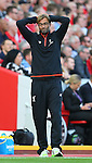 Jurgen Klopp manager of Liverpool during the Premier League match at Anfield Stadium, Liverpool. Picture date: September 10th, 2016. Pic Simon Bellis/Sportimage