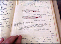 BNPS.co.uk (01202 558833)<br /> Pic: TWGaze/BNPS<br /> <br /> Pike's drawing of Japanese Kamikaze aircraft.<br /> <br /> A forgotten account of a tragic incident just as WW2 was finally ending has emerged in the diaries of a British midshipman.<br /> <br /> The officer's log exposes a potential cover up over the deaths of five seamen who were apparently killed in the final salvos of World War Two.<br /> <br /> Midshipman John Pike wrote of how at the very moment the order to cease fire against Japan on August 15, 1945 came through his ship came under attack by a lone kamikaze aircraft.<br /> <br /> The dive bomber fired its machine guns at the quarterdeck of HMS Gambia, prompting the crew to scatter and the ship to fire its guns in retaliation.<br /> <br /> Moments later two American Corsair fighter planes arrived and shot the enemy plane out of the sky. <br /> <br /> With the danger cleared the crew of the navy cruiser gathered themselves and realised that five men had been killed by the machine gun fire.