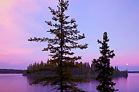 Athapap Lake at sunset, Flin Flon, Manitoba, Canada