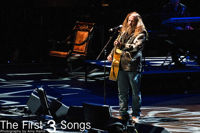 "Jamey Johnson performs at the George Jones Tribute Concert ""Playin' Possum: The Final No Show"" at Bridgestone Arena in Nashville, TN"