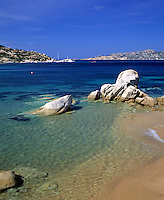 Italy, Sardinia, Porto Rafael, beach near Palau