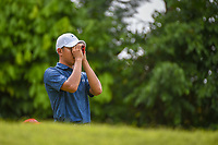 Lloyd Jefferson GO (PHI) uses a range finder on 7 during Rd 4 of the Asia-Pacific Amateur Championship, Sentosa Golf Club, Singapore. 10/7/2018.<br /> Picture: Golffile | Ken Murray<br /> <br /> <br /> All photo usage must carry mandatory copyright credit (&copy; Golffile | Ken Murray)