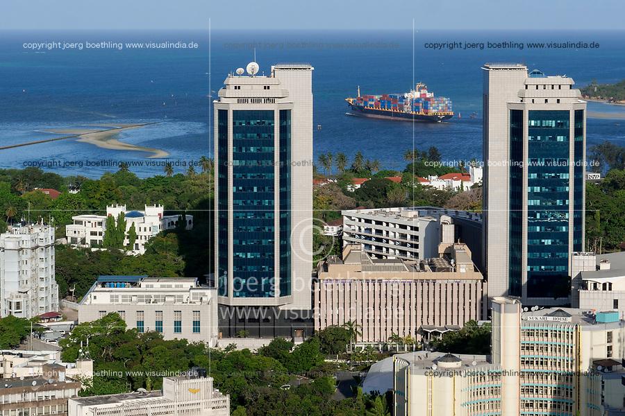 TANZANIA Daressalaam, indian ocean, PIL container ship sailing to indian ocean