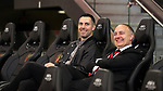 ATLANTA, GA - DECEMBER 07: Atlanta United FC's Carlos Bocanegra and Darren Eales. The MLS Cup 2018 Team Training Sessions were held on December 7, 2018 at the Mercedes Benz Stadium in Atlanta, GA.