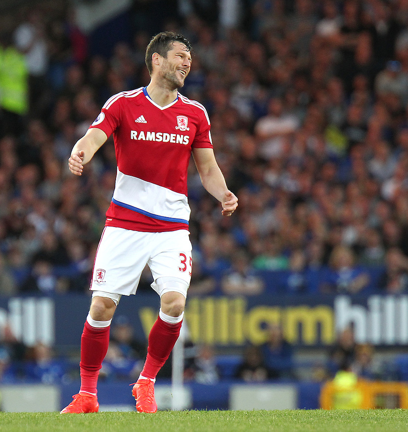 Middlesbrough's David Nugent<br /> <br /> Photographer Rich Linley/CameraSport<br /> <br /> The Premier League - Everton v Middlesbrough - Saturday 17th September 2016 - Goodison Park - Liverpool<br /> <br /> World Copyright &copy; 2016 CameraSport. All rights reserved. 43 Linden Ave. Countesthorpe. Leicester. England. LE8 5PG - Tel: +44 (0) 116 277 4147 - admin@camerasport.com - www.camerasport.com