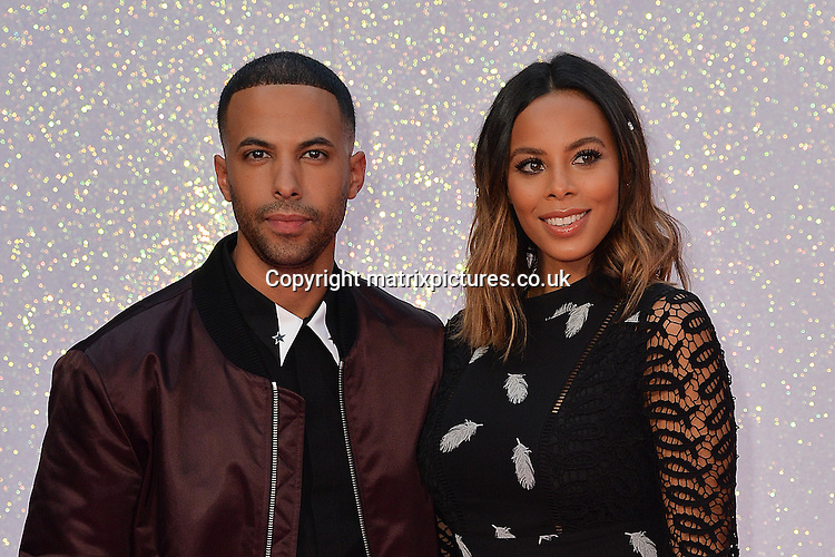 NON EXCLUSIVE PICTURE: MATRIXPICTURES.CO.UK<br /> PLEASE CREDIT ALL USES<br /> <br /> WORLD RIGHTS<br /> <br /> English TV and radio presenters Marvin Humes and wife Rochelle Humes attend the world premiere of &quot;Bridget Jones's Baby&quot; at Leicester Square in London.<br /> <br /> SEPTEMBER 5th 2016<br /> <br /> REF: JWN 162864