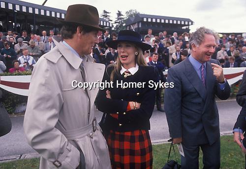 Race horse trainer, Mrs Susan Sangster Mr Robert  Sangster having just won. Cartier Million Horse race Dublin 1989s.