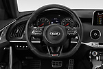 Car pictures of steering wheel view of a 2018 KIA Stinger GT 5 Door Hatchback