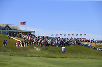 The clubhouse during Thursday's Round 1 of the 118th U.S. Open Championship 2018, held at Shinnecock Hills Club, Southampton, New Jersey, USA. 14th June 2018.<br /> Picture: Eoin Clarke | Golffile<br /> <br /> <br /> All photos usage must carry mandatory copyright credit (&copy; Golffile | Eoin Clarke)