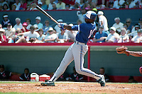 Toronto Blue Jays Fred McGriff (19) during spring training circa 1990 at Chain of Lakes Park in Winter Haven, Florida.  (MJA/Four Seam Images)