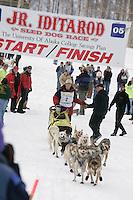 Start Day Junior Iditarod Sled Dog Race.  Wasilla, Alaska 2005 Dallas Seavey