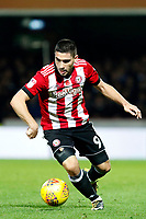 Neal Maupay of Brentford in action during the Sky Bet Championship match between Brentford and Leeds United at Griffin Park, London, England on 4 November 2017. Photo by Carlton Myrie.