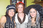 Having a good time at the Halloweening party in the Saddle bar Listowel on Friday night were Siobhan Keating Pat Loughnane and Maecella  Stackpoole ...   Copyright Kerry's Eye 2008